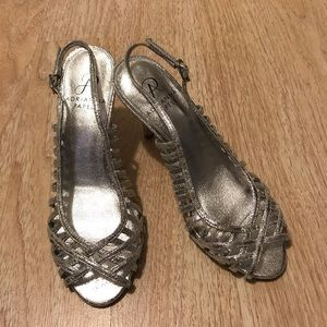 Adrianna Papell Silver sandals size 6